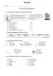 English Worksheets: comprehension text