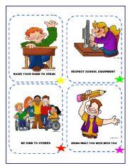 English Worksheet: CLASS RULES