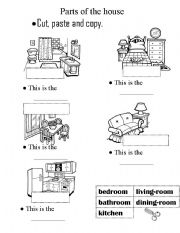 Parts of the house worksheets english worksheet parts of the house cut paste activiy ibookread ePUb