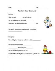 English Worksheets: Occupations #1