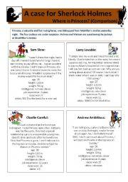 English Worksheet: A case for Sherlock Holmes IV: Comparison