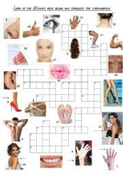 English Worksheet: Body parts game!