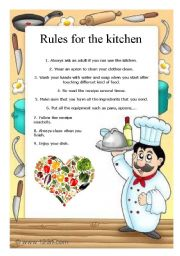 Rules for the kitchen