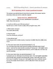 English Worksheets: ielts speaking