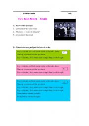 English Worksheet: Song Hey Soul Sister