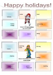 English Worksheets: Discussion activity - Happy holidays 2