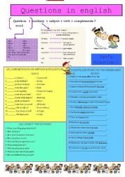 English Worksheets: Questions in English