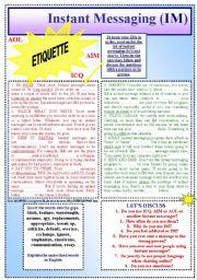 Instant Messaging (IM) ETIQUETTE