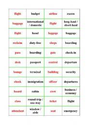 airport vocabulary (dominoes)