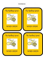 English Worksheet: The Spelling Game