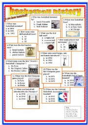 English Worksheet: basketball history