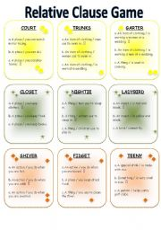 English worksheets: relative clauses worksheets, page 6