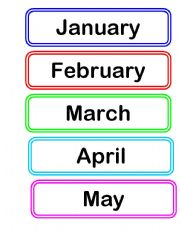 English Worksheets: month