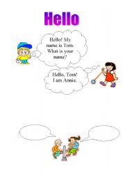 English Worksheets: hello