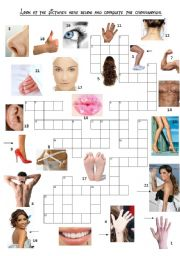 English Worksheets: Body parts game