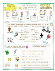 VERBS IN PAST-TOBE-Affirmative form