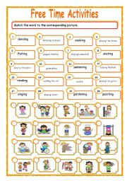 English Worksheet: Free Time Activities