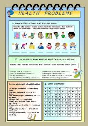 English Worksheets: HEALTH PROMLEMS