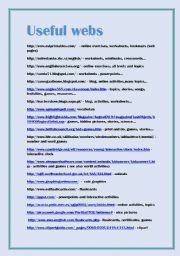 English Worksheets: USEFUL WEBS