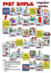 English Worksheet: PAST SIMPLE - regular verbs BOARD GAME (B&W INCLUDED)