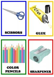 English Worksheet: School Things 1/2