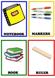 English Worksheet: School Things 2/2