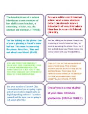 English Worksheets: INTRODUCING YOURSELF & OTHERS