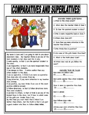English Worksheet: CLASSROOM RULES - COMPARATIVES AND SUPERLATIVES