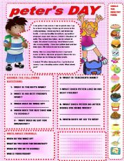 English Worksheets: PETER�S DAY