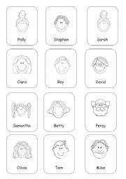 English Worksheets: Fun game/listening activity: My family