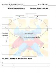 English Worksheets: hero�s journey worksheet