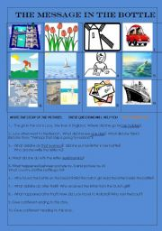 English Worksheets: THE MESSAGE IN THE BOTTLE