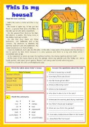English Worksheets: This is my house