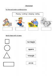 English Worksheets: activity