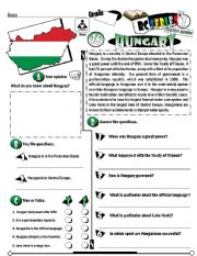 English Worksheet: RC Series_Level 01_Country Edition 16 Hungary (Fully Editable + Key)