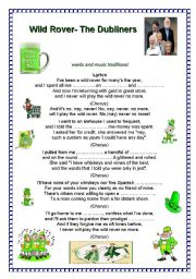 English worksheet: the wild rover-- the Dubliners