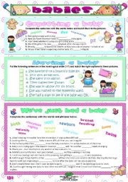 English Worksheets: BABIES