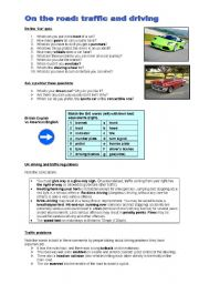 English Worksheet: Cars and driving