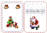 My Christmas Mini Book - part 1 -4 pages -24  Flashcards to colour