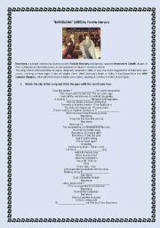 English worksheet: Song: BARCELONA by Freddie Mercury