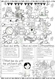 English Worksheets: toys