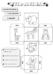 English Worksheets: Animal Dice Jungle
