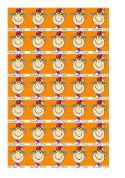 English Worksheets: I�m happy today reward token