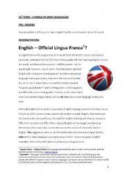 English Worksheets: English - Lingua Franca?