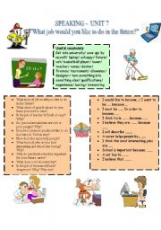 English Worksheet: speaking