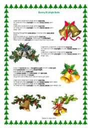 English Worksheet: Song by Boney M Jingle Bells with task
