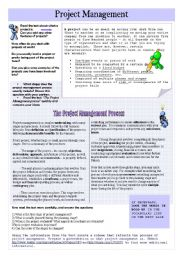 English Worksheet: Project Management