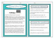 English Worksheets: Reading comprehension- Selfridges stores