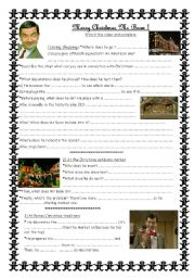 English Worksheets: Merry Christmas Mr Bean