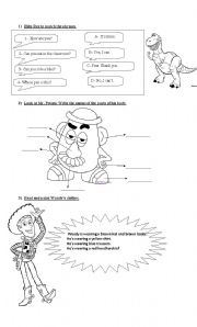 English Worksheets: Toy Story 2